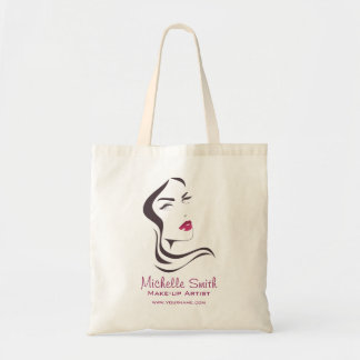 Long Hair hairdresser make up artist  branding Tote Bag