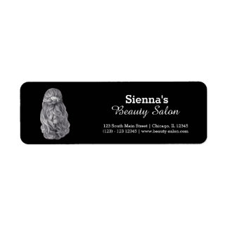 Long hair | Hairstylist | Hairdresser |  Salon Return Address Label