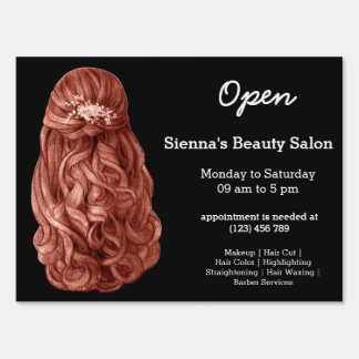 Long hair | Hairstylist | Hairdresser |  Salon Sign