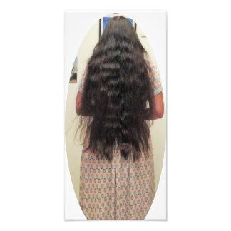 Long Hair Woman Wearing Dress Photo Print