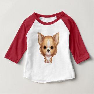 Long-Haired Beige and White Chihuahua Baby T-Shirt