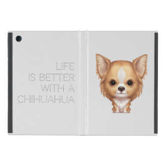 Long-Haired Beige and White Chihuahua iPad Mini Cases