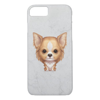 Long-Haired Beige and White Chihuahua iPhone 7 Case