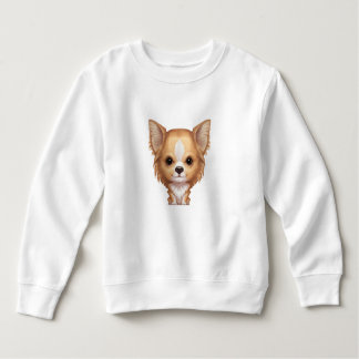 Long-Haired Beige and White Chihuahua Sweatshirt