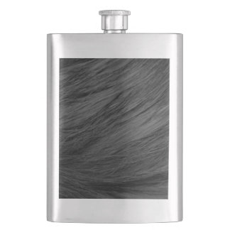 LONG HAIRED BLACK CAT FUR FLASK