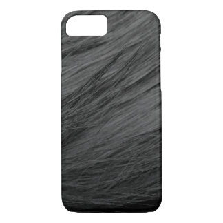 LONG HAIRED BLACK CAT FUR iPhone 7 CASE