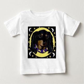 Long Haired Black Dachshund Baby T-Shirt