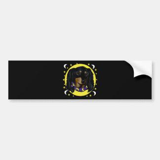 Long Haired Black Dachshund Bumper Sticker