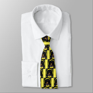 Long Haired Black Dachshund Tie