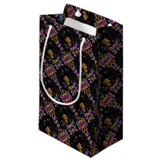 Long Haired Black Doxie Small Gift Bag
