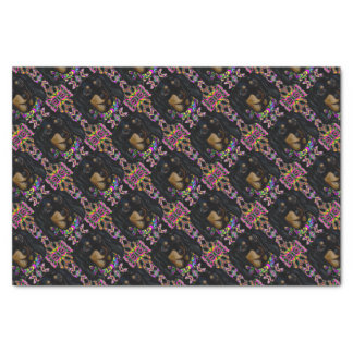Long Haired Black Doxie Tissue Paper