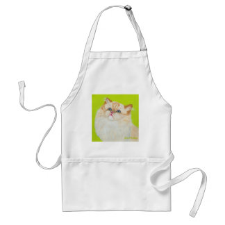 Long Haired Cat Painting by Ania M Milo Aprons