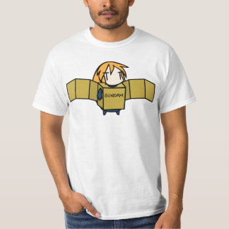 Long-Haired Character Box Gundam T-Shirt