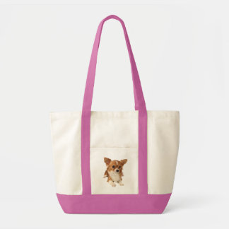 Long Haired Chihuahua Brown And White Puppy Dog Impulse Tote Bag