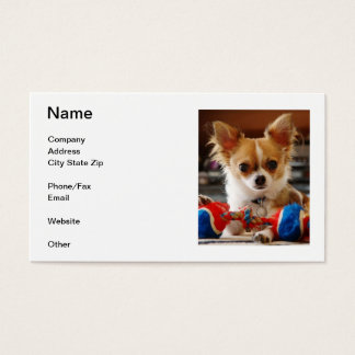 Long Haired Chihuahua Business Cards