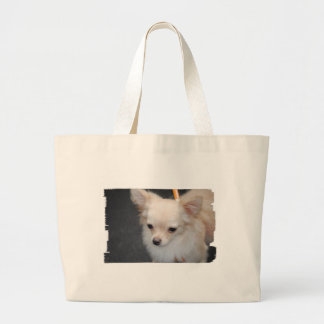 Long Haired Chihuahua Canvas Bag
