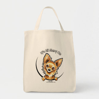 Long Haired Chihuahua IAAM Grocery Tote Bag