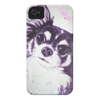 Long Haired Chihuahua iPhone 4 Case-Mate Case
