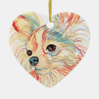 Long Haired Chihuahua Pop Art Ornament