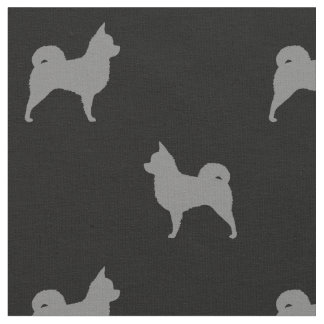 Long Haired Chihuahua Silhouettes Pattern Fabric