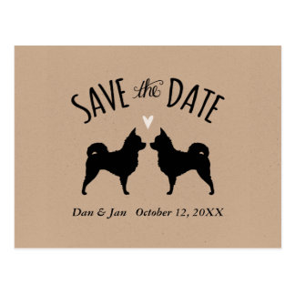 Long Haired Chihuahuas Wedding Save the Date Postcard