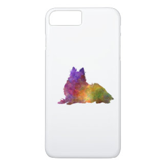 Long Haired Collie in watercolor iPhone 8 Plus/7 Plus Case