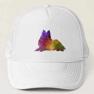 Long Haired Collie in watercolor Trucker Hat