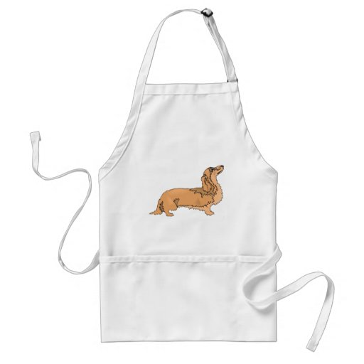 Long Haired Dachshund Apron