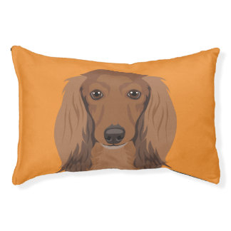 Long-Haired-Dachshund Pet Bed