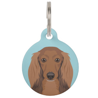 Long-Haired-Dachshund Pet Tag