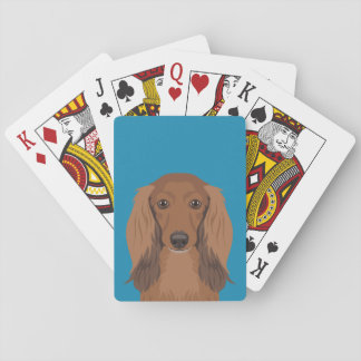 Long-Haired-Dachshund Playing Cards
