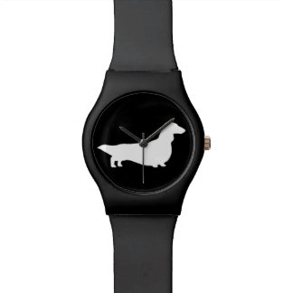 Long Haired Dachshund Silhouette Watch