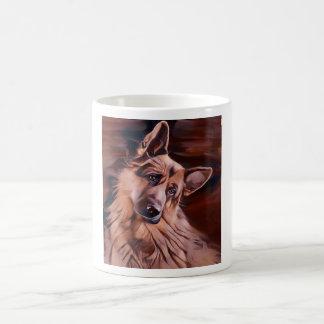 Long haired German Shepherd Magic Mug