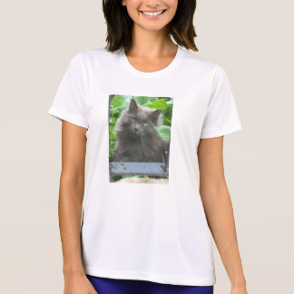 Long Haired Gray Cat T-Shirt