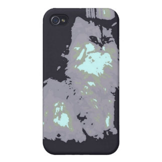 Long-haired Gray Kitty Cat iPhone 4 Cover