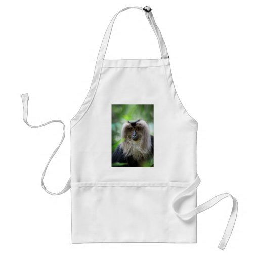 Long haired macaque monkey aprons
