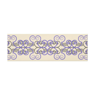 Long Horizontal Geometrical Swirl Pattern Wall Art