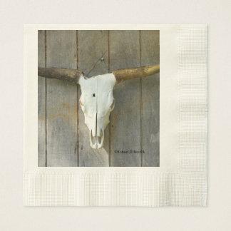 Long Horn Bull Skull Napkins Paper Napkin