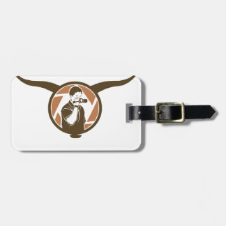 Long Horn Bull Videography Luggage Tag