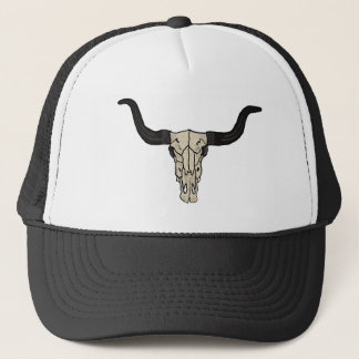 Long Horn Cow Skull Trucker Hat