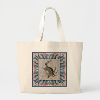 Long Island Blue Claw Large Tote Bag