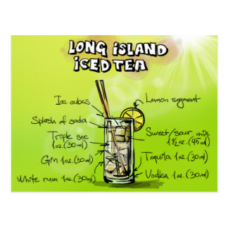 Long Island Iced Tea - Cocktail Gift Postcard