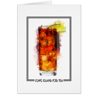 Long Island Iced Tea Marker Sketch Card