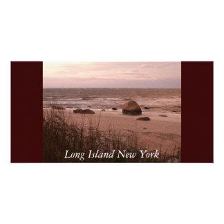 Long Island New York Customized Photo Card