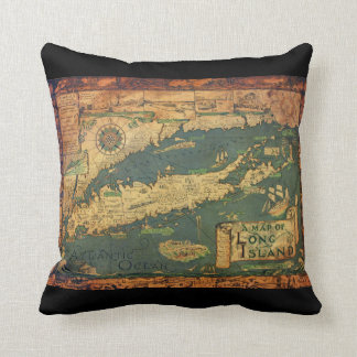 Long Island, New York Throw Pillow