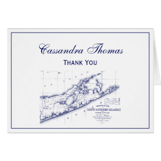 Long Island The Hamptons Map Card