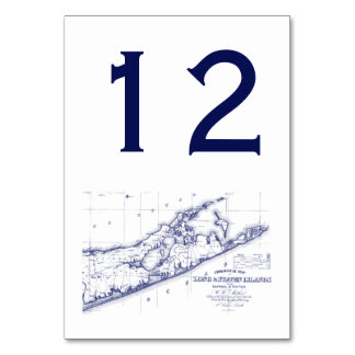 Long Island The Hamptons Map Card