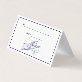 Long Island The Hamptons Map Place Card