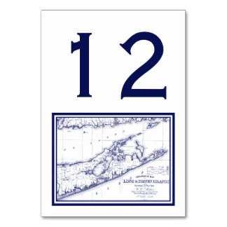 Long Island The Hamptons Map Table Cards
