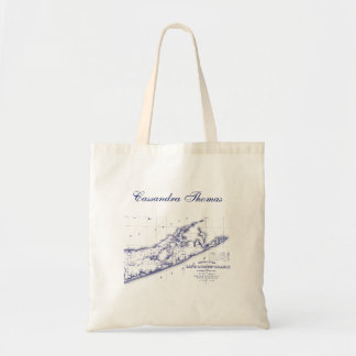 Long Island The Hamptons Map Tote Bag